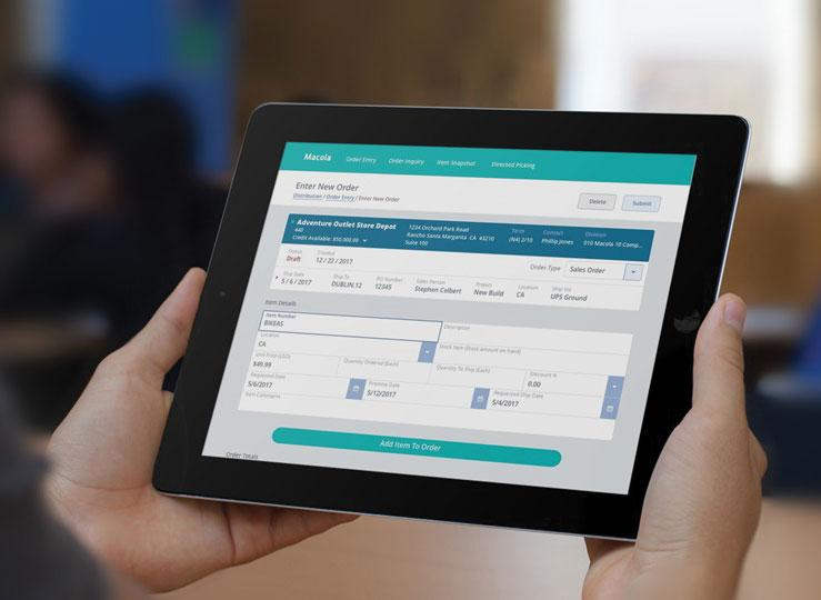 Erp Business Software Designed To Work On Tablet