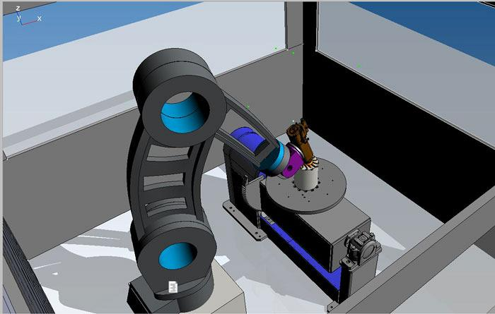 Simulation machining process