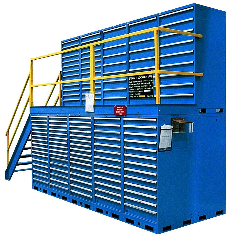 quickship preconfigured blue dark configured vidmar with cabinet cabinets drawers pre h lista