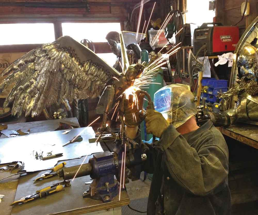 Image courtesy em the baker this image is for representation purpose - Metal Made Wild A Welder Captures Nature In Sheet Metal Canadian Metalworking
