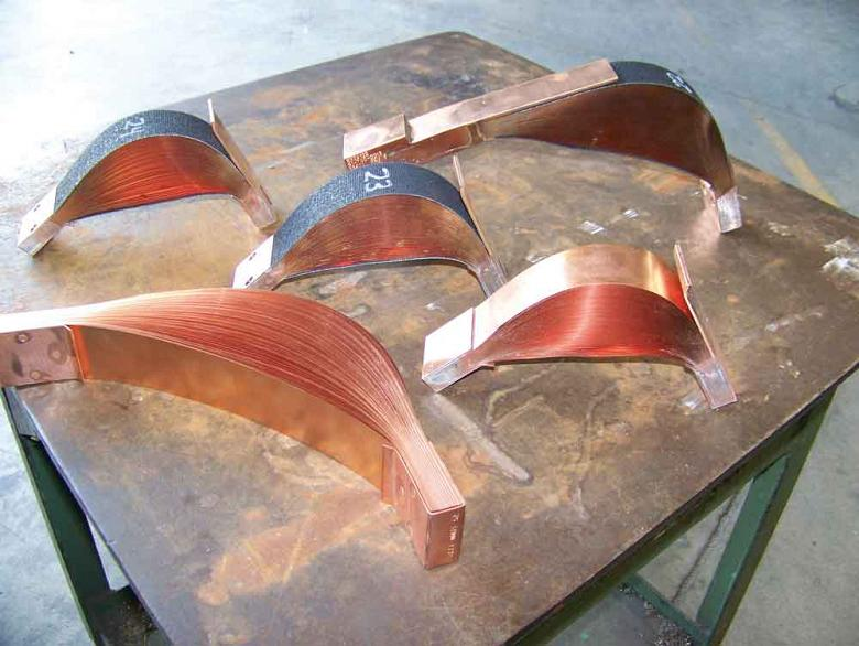Copper shunts are made in a variety of sizes and shapes.