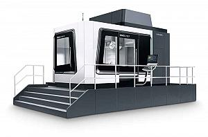The DMG Mori second-generation DMU 210 P allows 5-axis applications with travel distances of up to 2,100 by 2,100 by 1,250 mm.